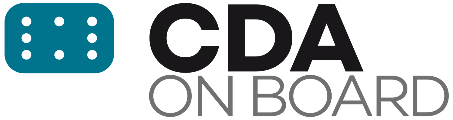 CDA ON BOARD logo