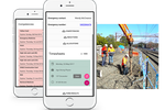 Assignar screenshot: The Fieldworker app for Android and iOS devices allow construction staff to submit timesheets, record safety inspections and remain in contact from the project site