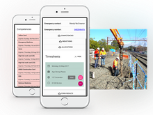 Assignar Software - The Fieldworker app for Android and iOS devices allow construction staff to submit timesheets, record safety inspections and remain in contact from the project site