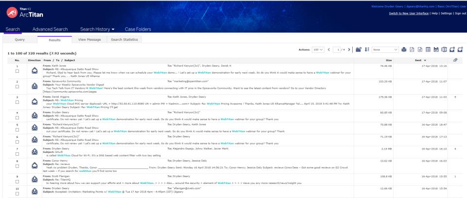 ArcTitan Email Archiving Logiciel - 1
