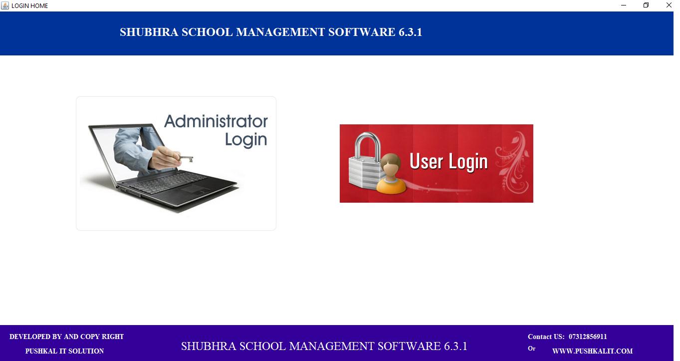 Shubhra School Management user login