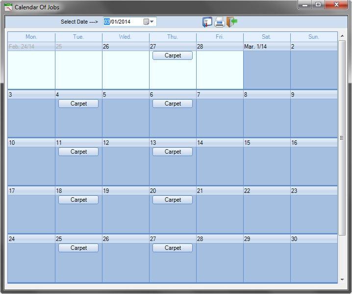 Scheduling Manager Software - Calendar