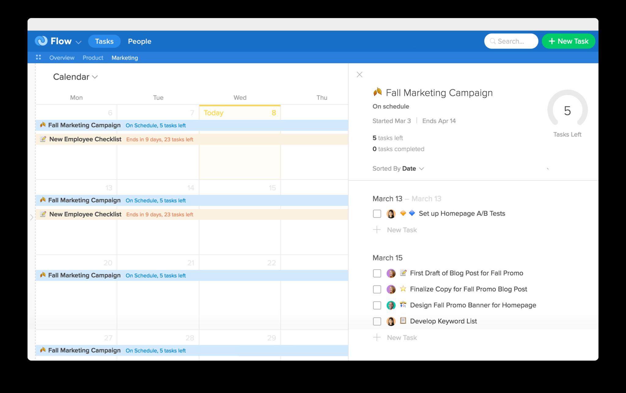 Flow Software - Calendar