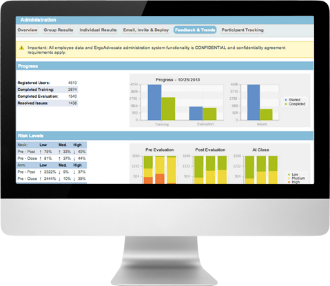 Employee training completion can be tracked in VelocityEHS