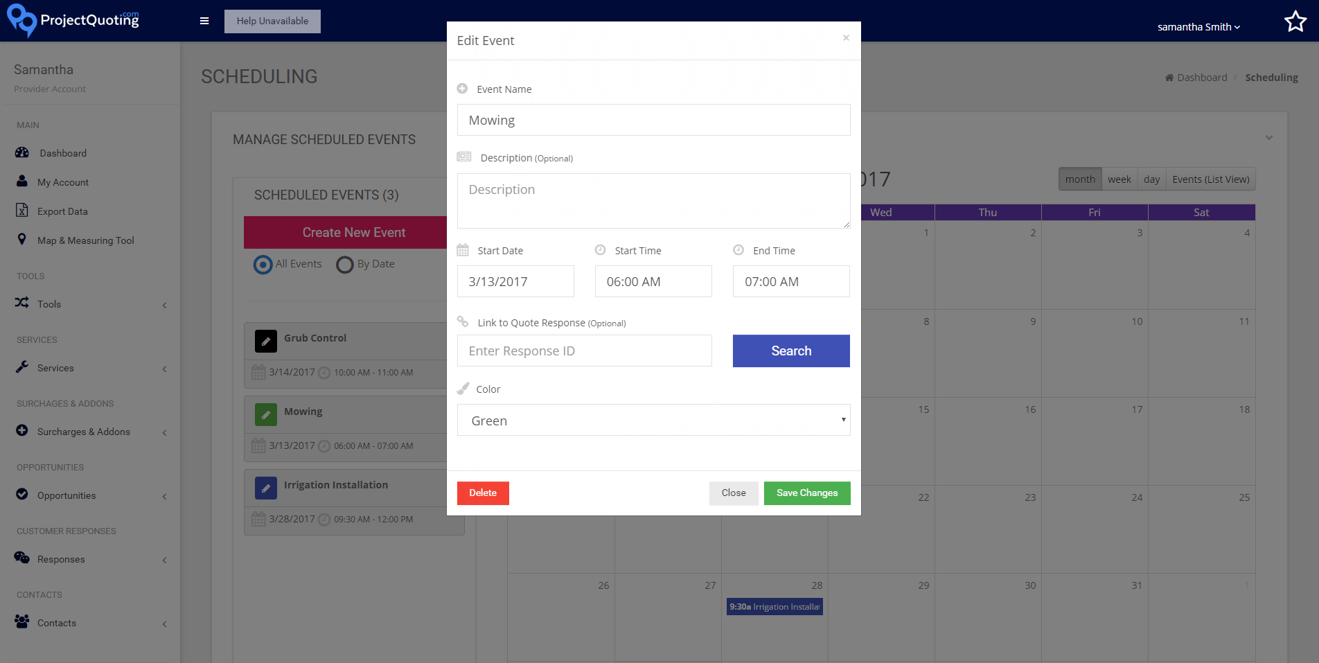 Create and edit events and add them to the calendar