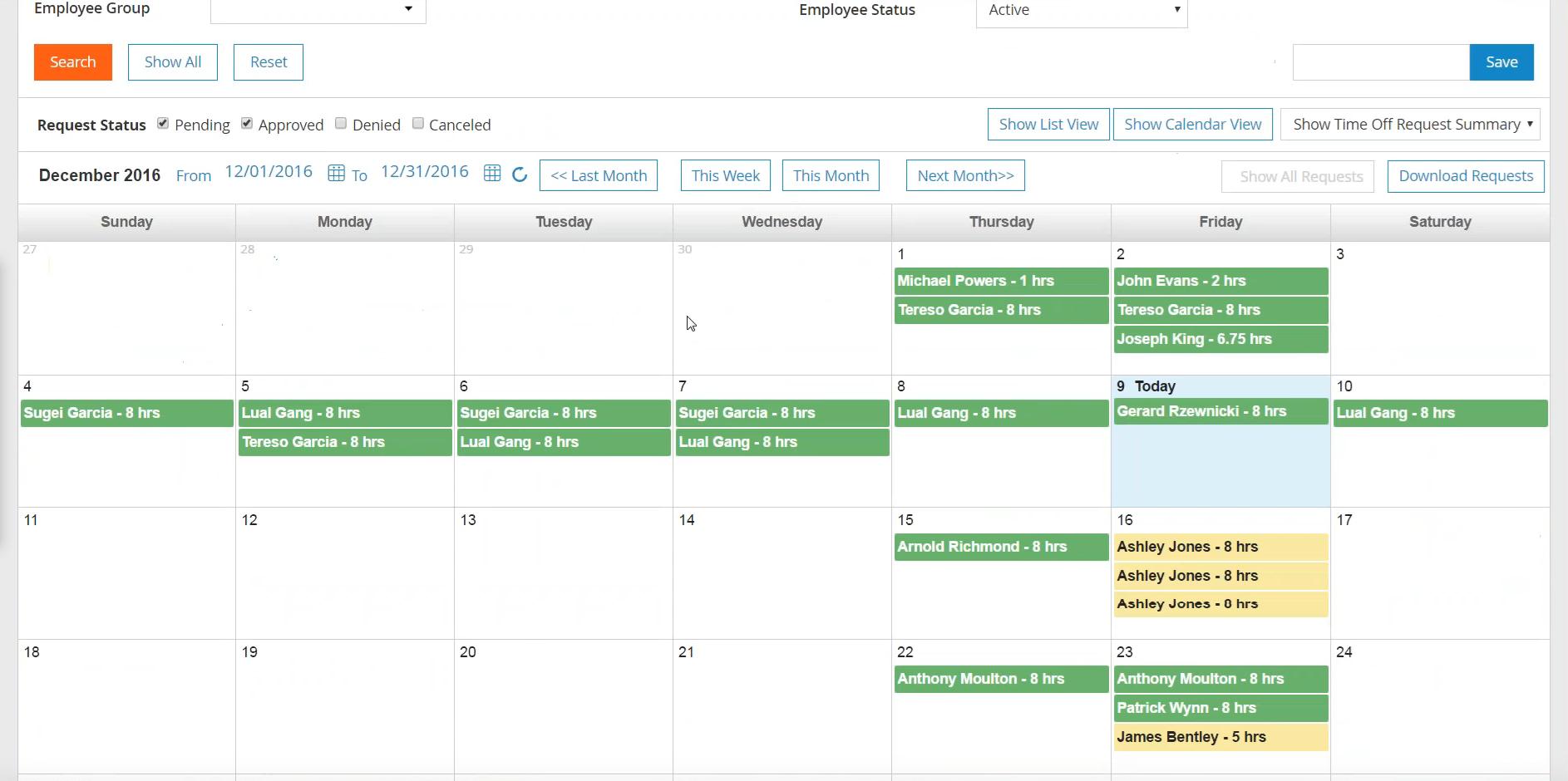 Paylocity Software - Paylocity Calendar