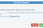 Emplotime screenshot: Users can control device authorization to manage where employees can clock in and out from