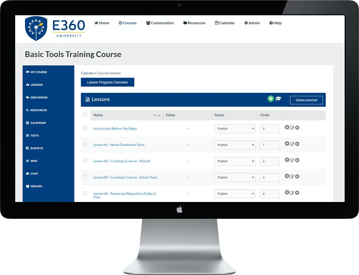 Edvance360 Software - Lessons