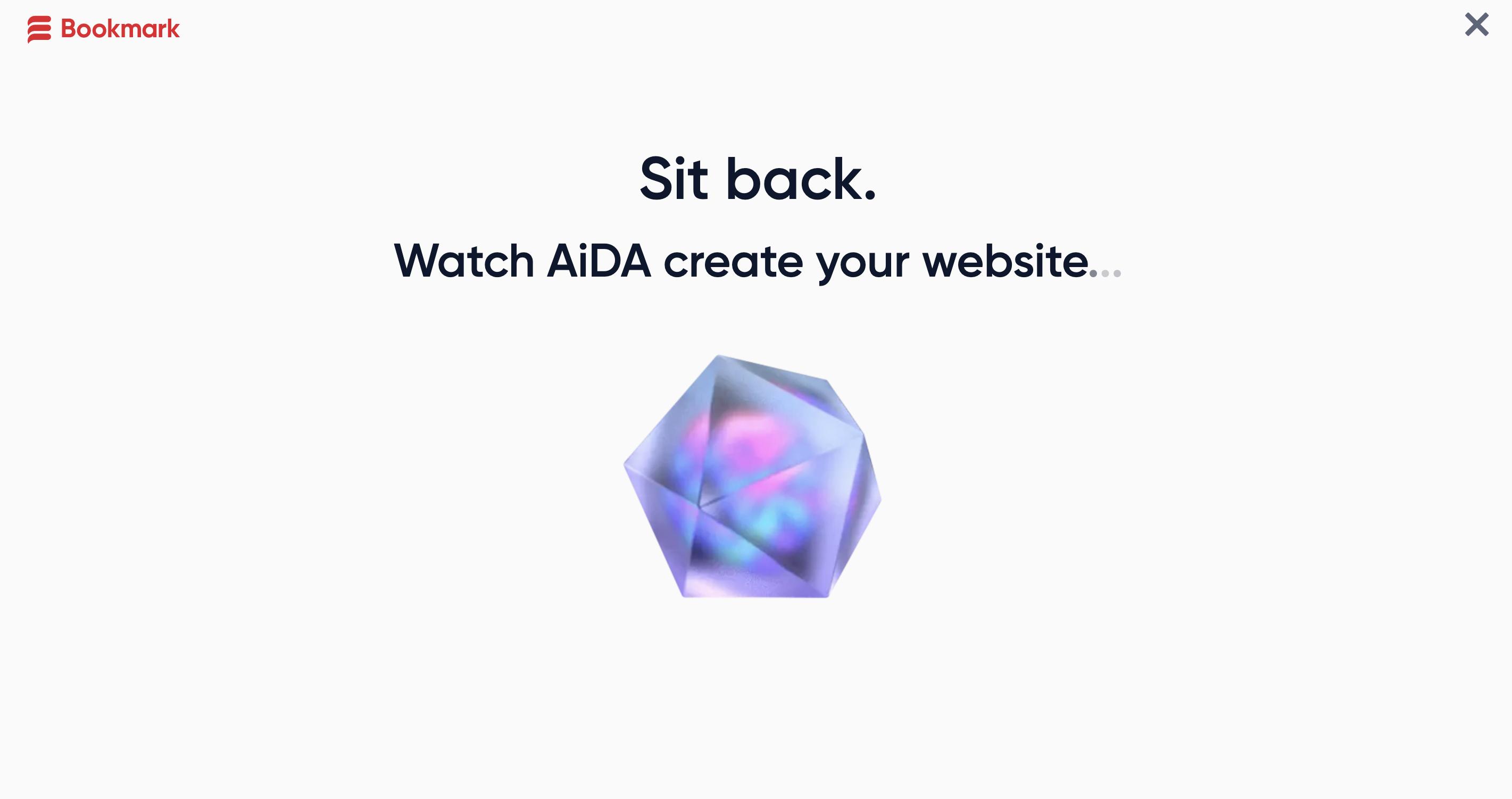 AiDA creates your website