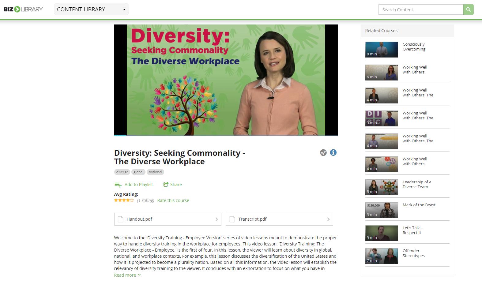 Diversity video lesson
