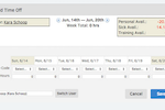 QuickBooks Time Screenshot: Track employee hours and managing employee PTO conveniently online
