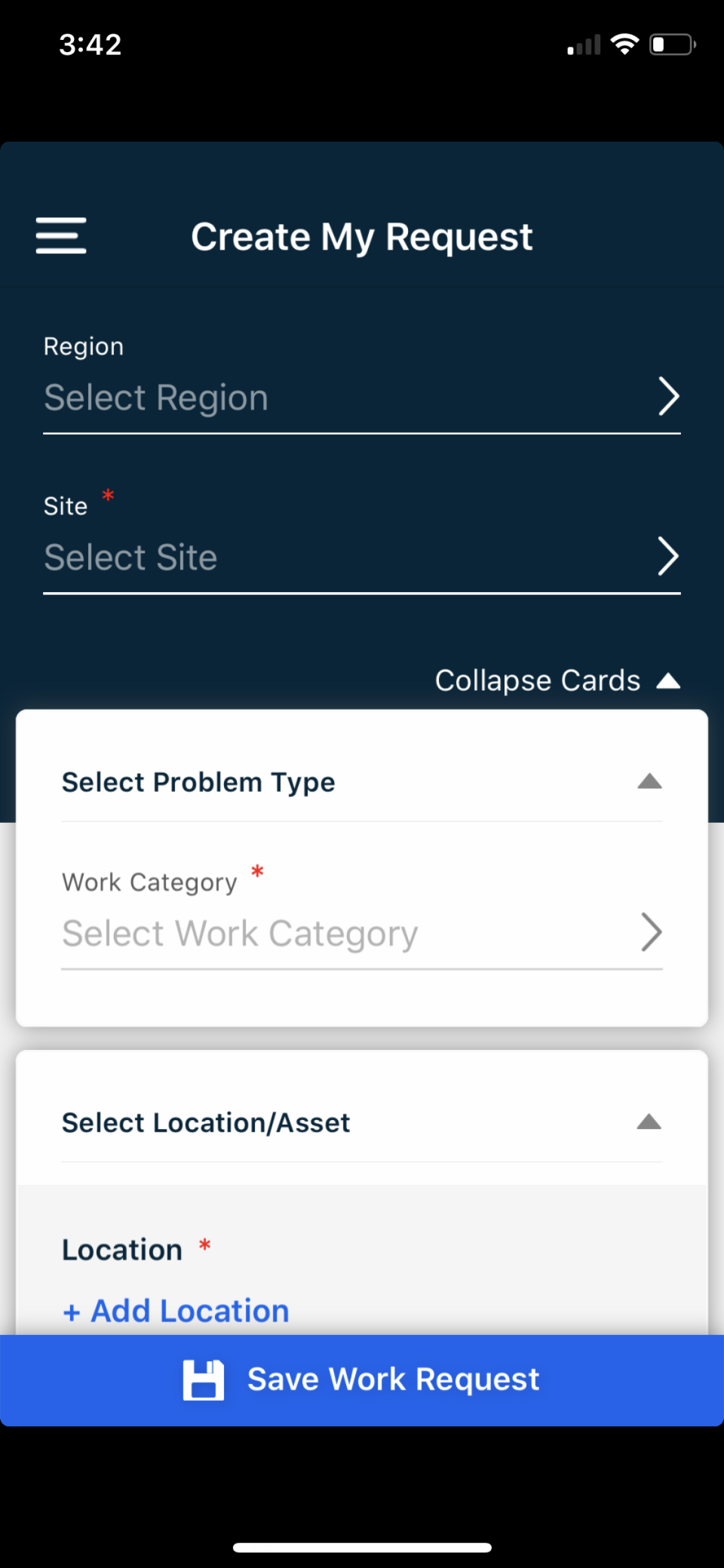 Mobile Work Request