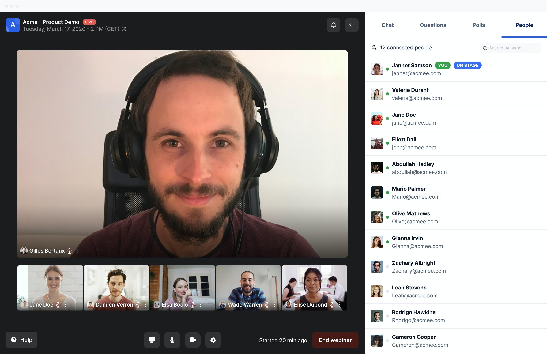 Livestorm Software - Livestorm video conference
