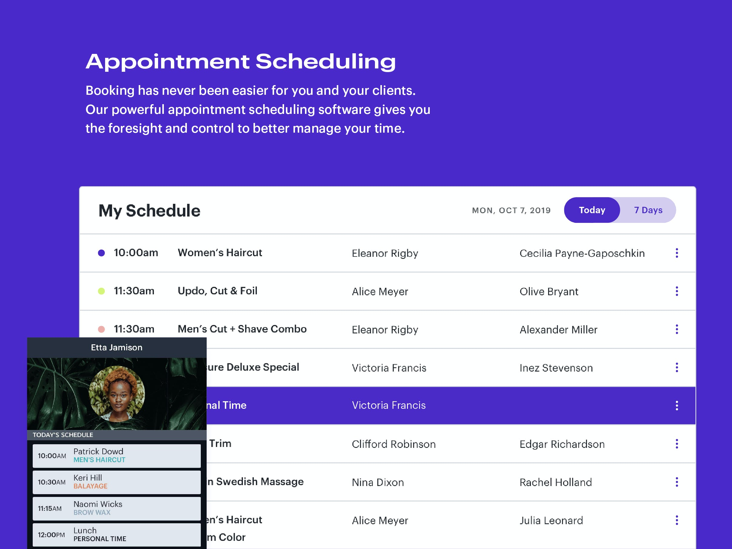 Schedulicity Software - Appointment Scheduling: Booking has never been easier for you and your clients. Our powerful appointment scheduling software gives you the foresight and control to better manage your time.