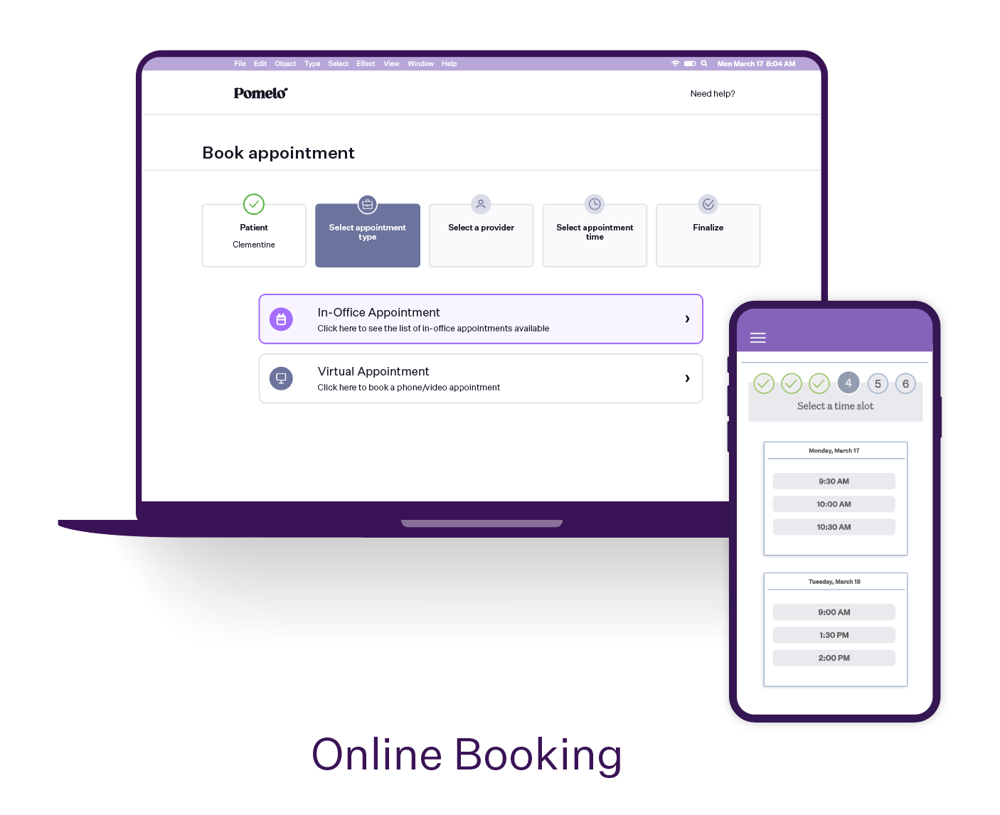 Pomelo Health Software - Allow your patients to book their appointments online and save over 120 hours of staff-time per employee, per month.