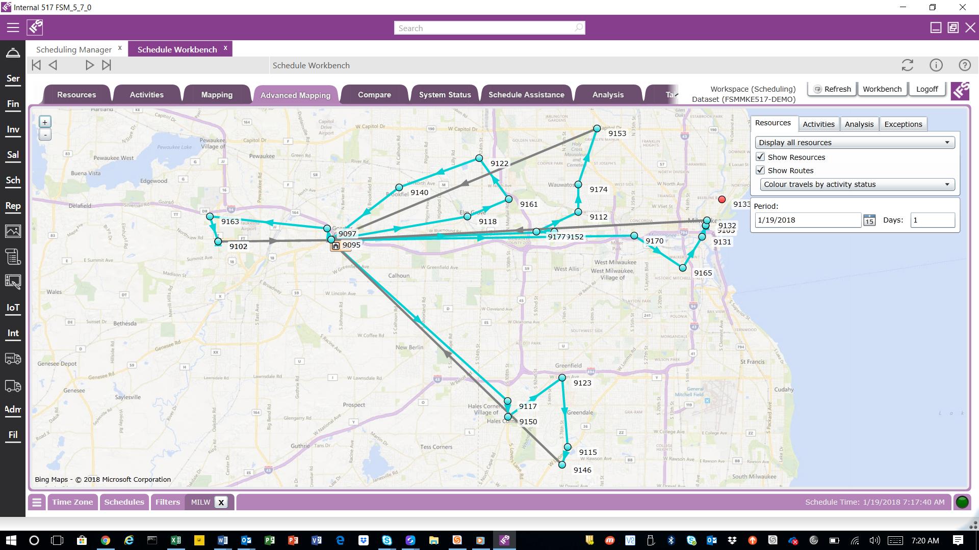 IFS FSM mapping integration screenshot
