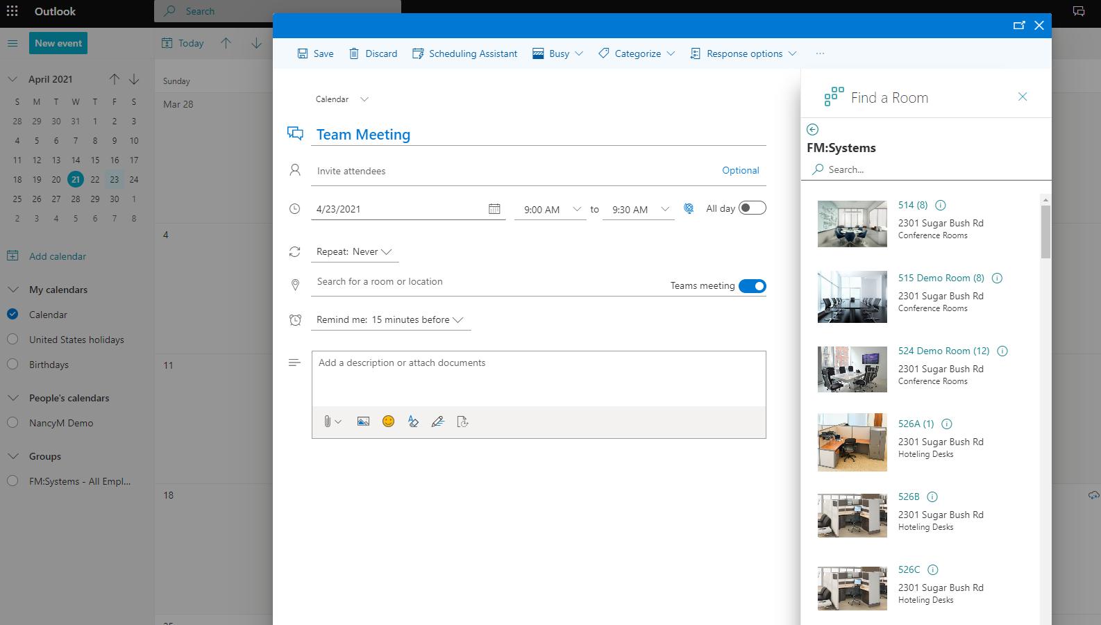 FMS:Employee Schedule Meeting