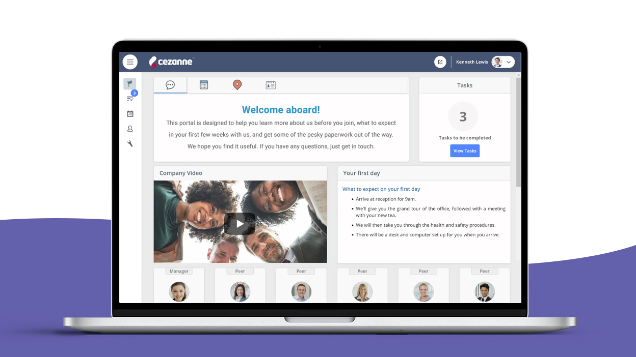 Create a better impression and ensure employee onboarding runs smoothly first time every time with easy-to-set up welcome portals and a smart task manager.