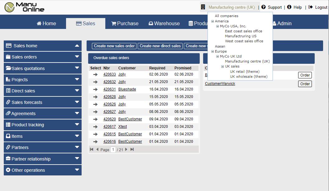 Manu Online Software - 2