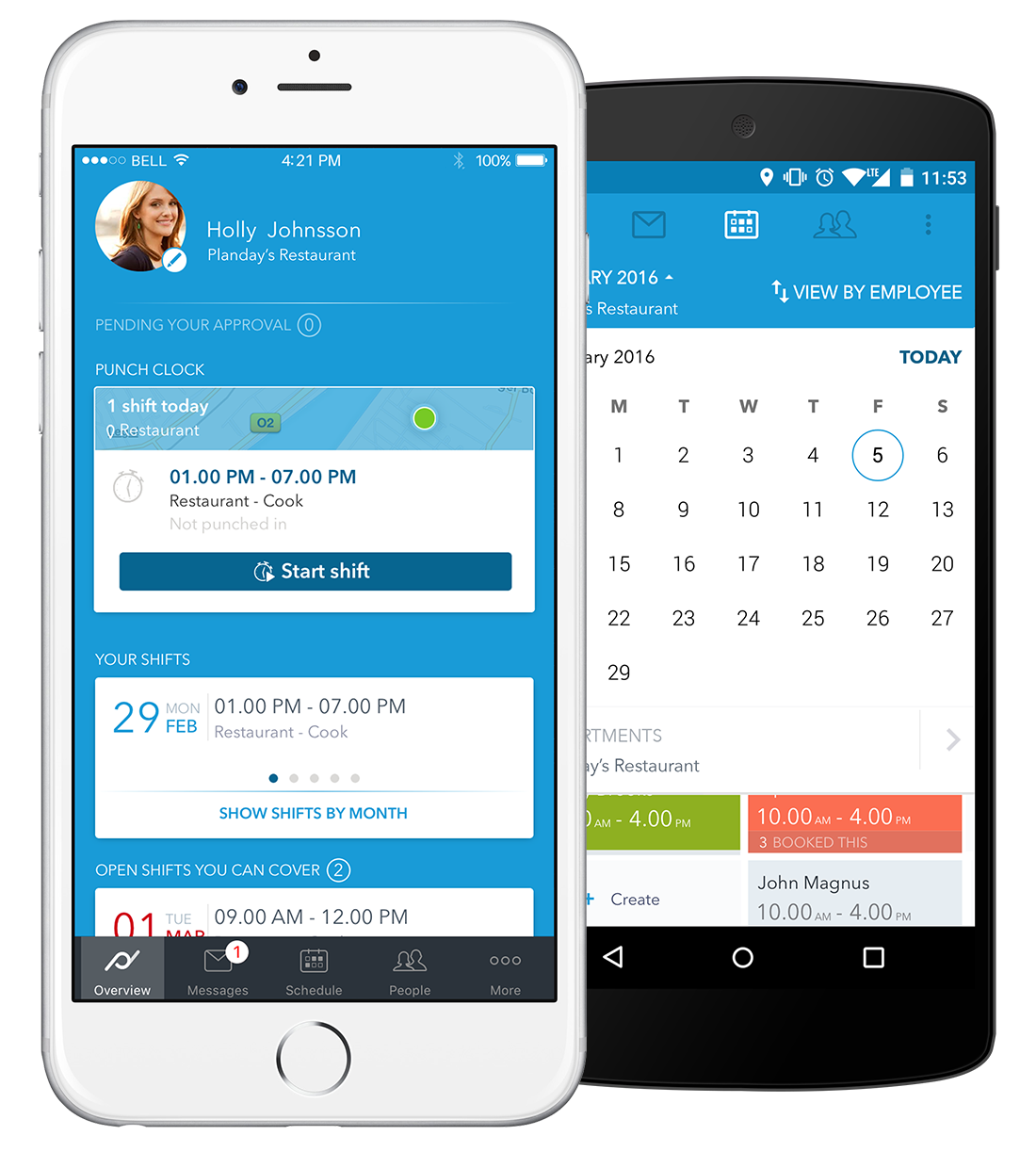 Planday Software - App: Easily swap shifts with colleagues