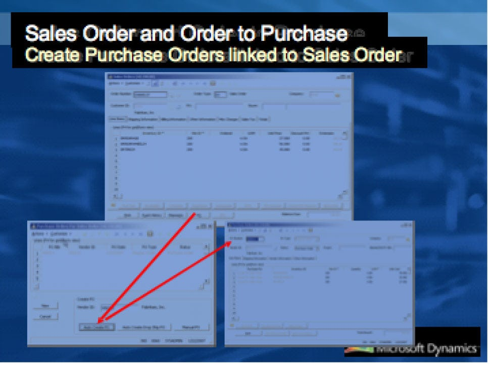 Microsoft Dynamics SL Software - Sales Order/Orders to Purchase