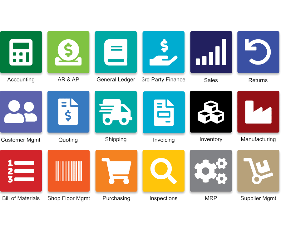18+ Modules Included with QT9 ERP