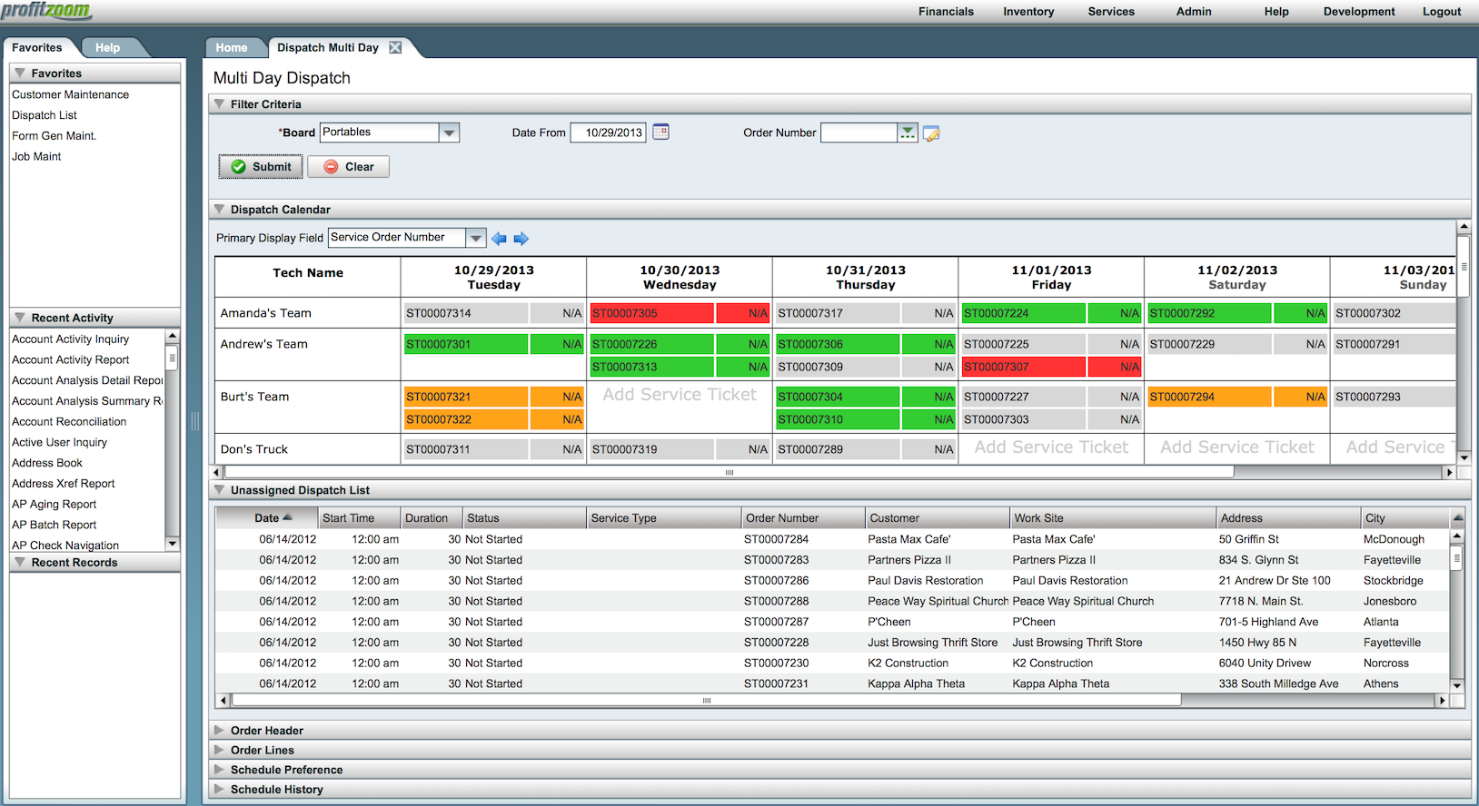 ProfitZoom Software - Dispatch