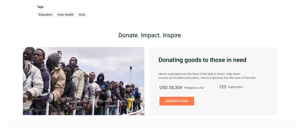 Goodera Volunteer manage donations
