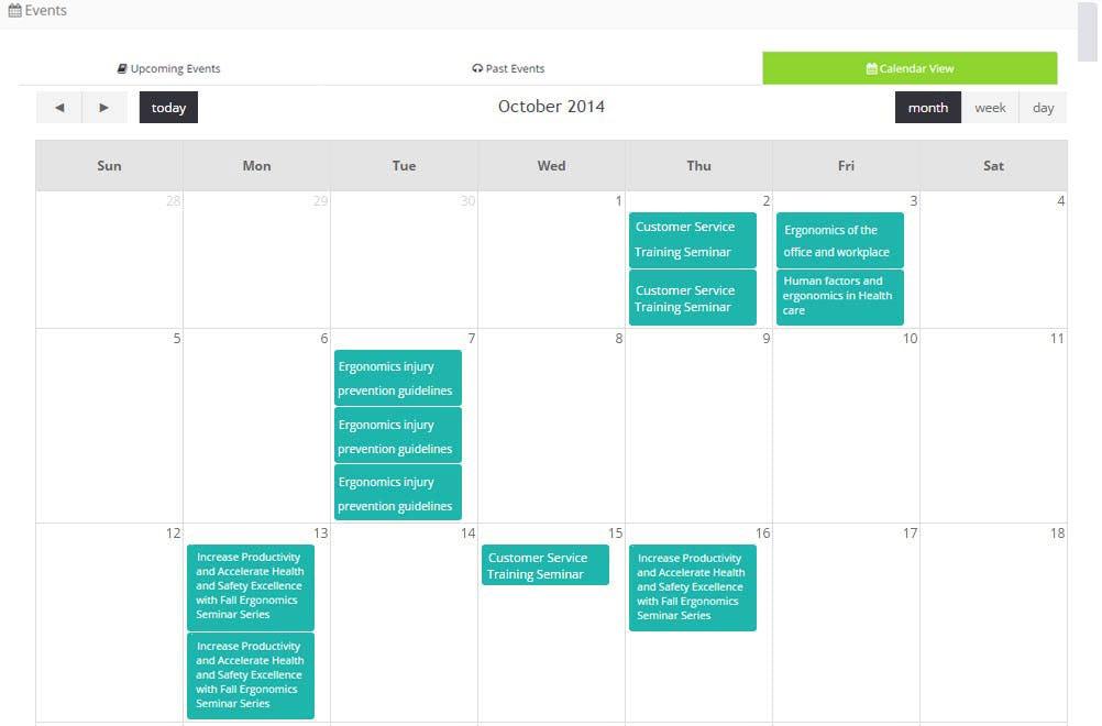 Instancy Learning Management System Software - Instancy events calendar