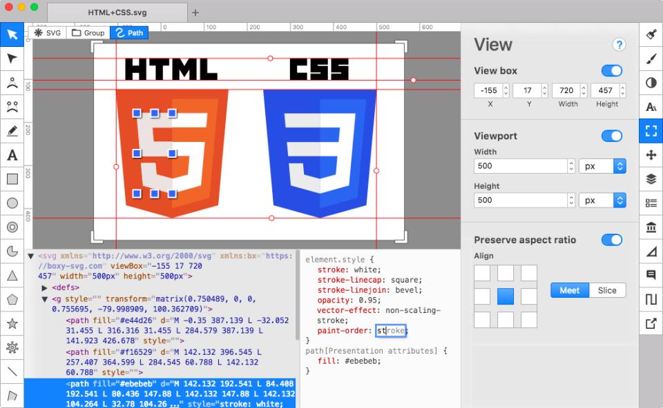 Boxy SVG HTML editor