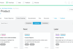 ProdPad screenshot: Snap a lean roadmap together in minutes. Build your product strategy around goals with out powerful product roadmapping tools.