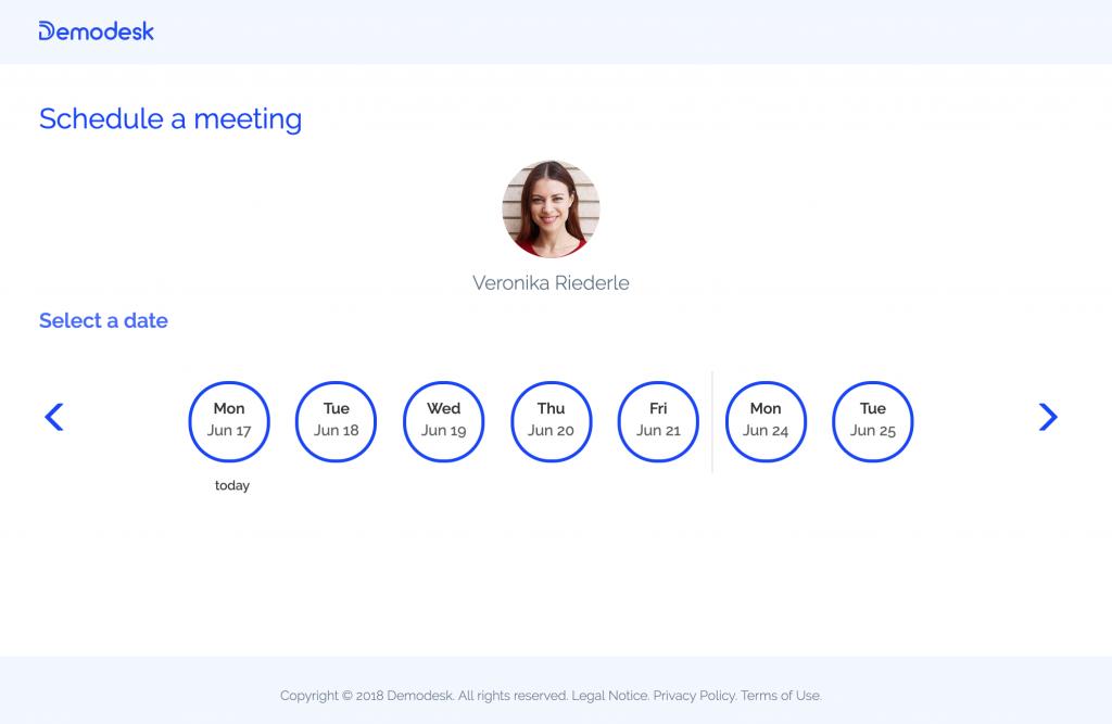 Demodesk: Meeting Scheduling