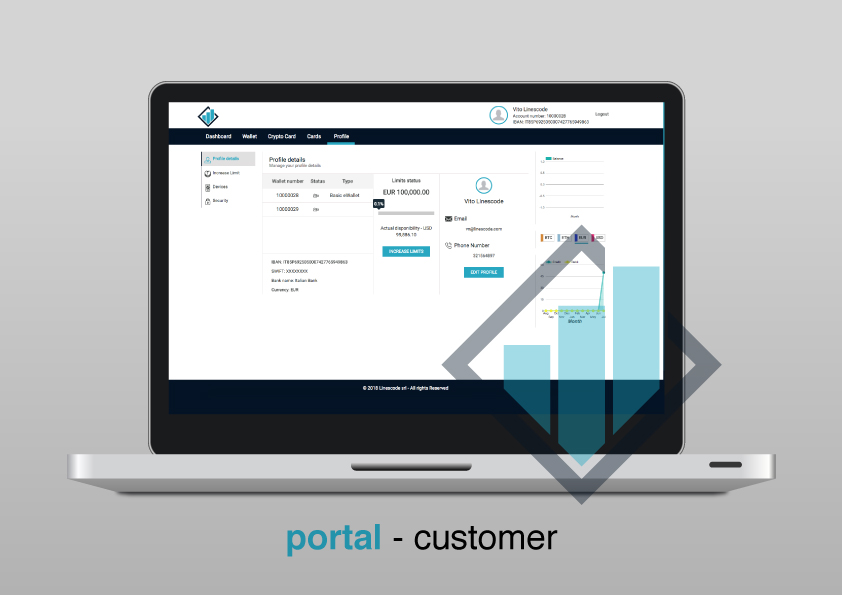 Customers can view and manage their profile and contact details via the customer portal