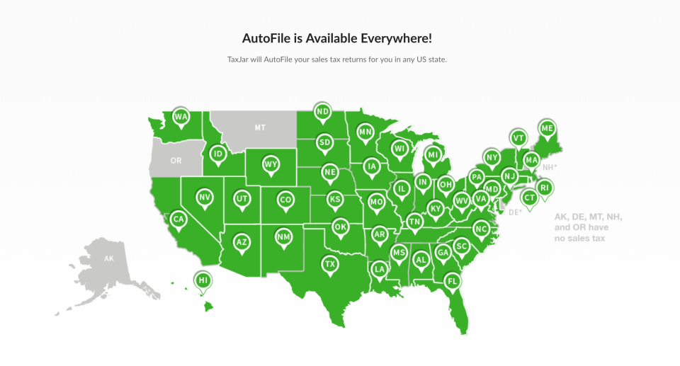 TaxJar AutoFile is available to users in any state
