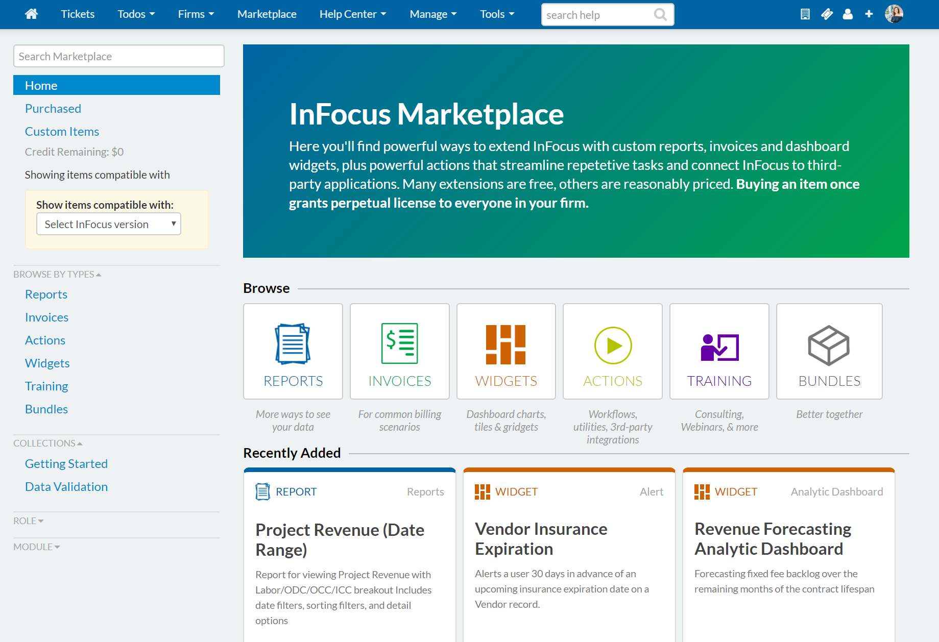 InFocus Marketplace - like an app store for InFocus