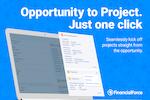 FinancialForce PSA screenshot: Create project from the opp