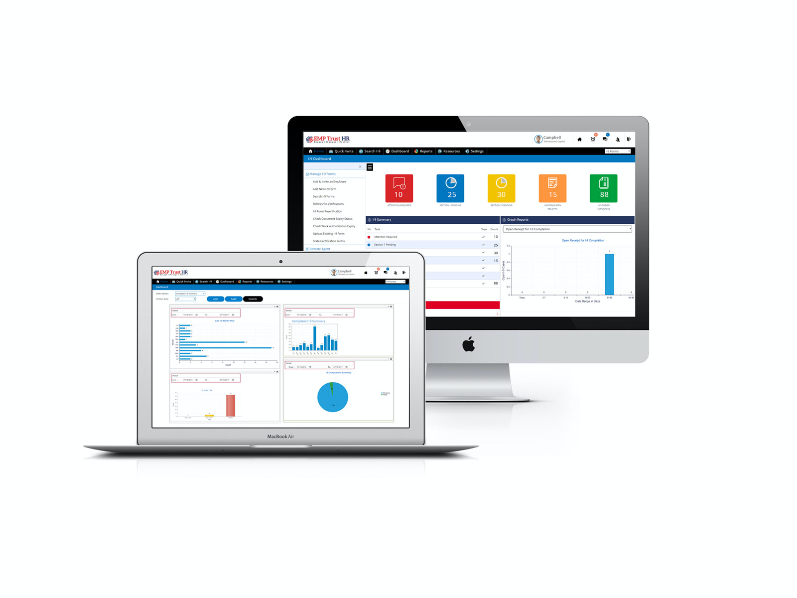 Create your personalized dashboards to focus on your key events and tasks