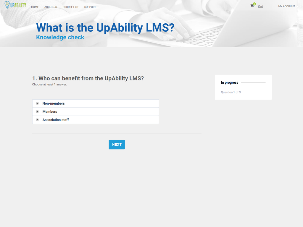 UpAbility Software - Create custom test questions