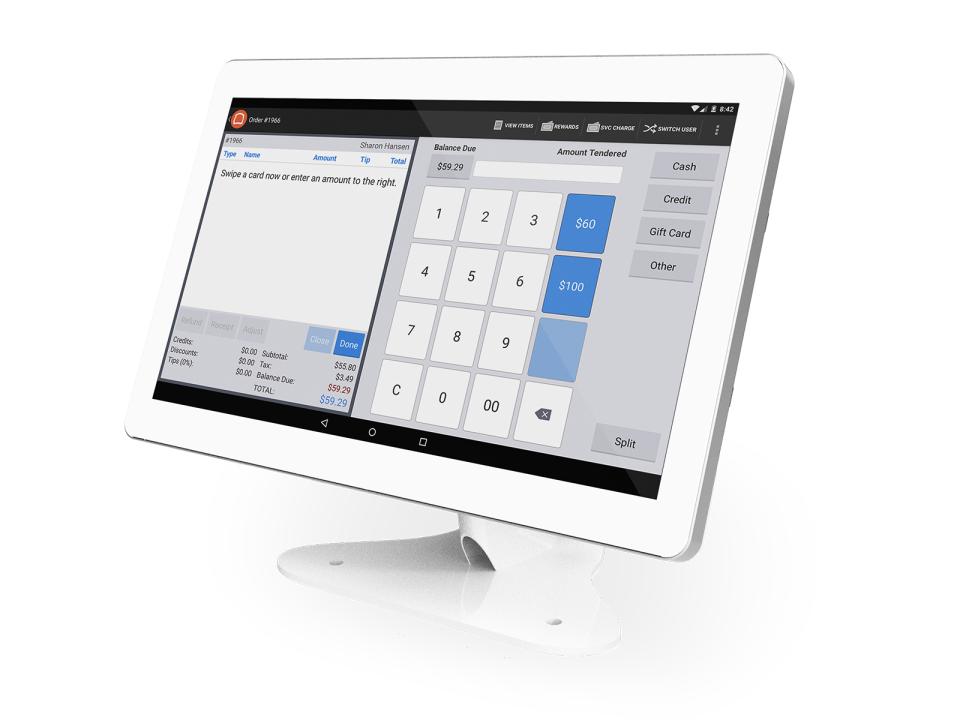 Toast POS Software - White Terminal