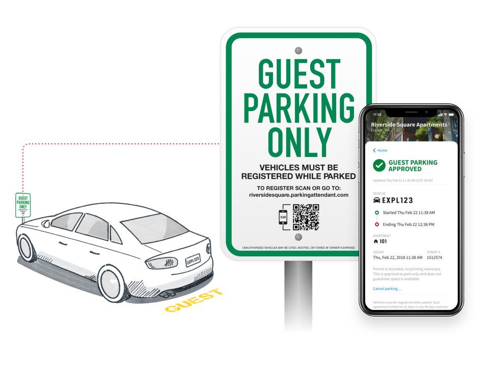Parking Boss screenshot: Manage guest parking permits