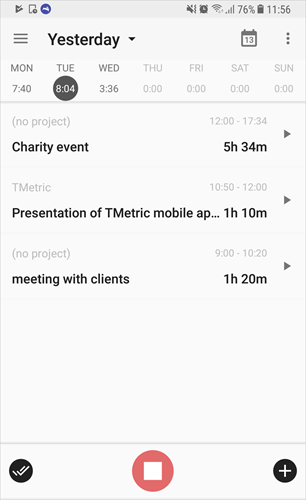 TMetric app for Android