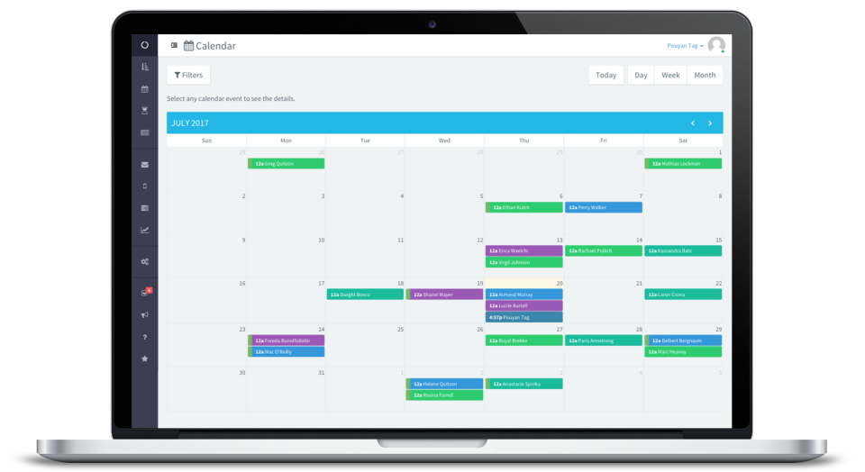 Color-coded group calendars