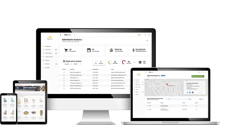 B2B Direct screenshot: B2B Direct websites offer full eCommerce capabilities, complete with all of the tools needed to sell online, and are accessible from any device