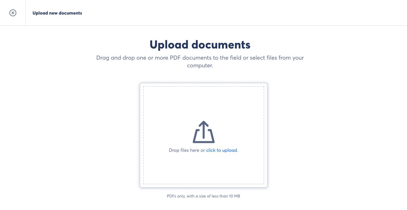 Skribble upload documents