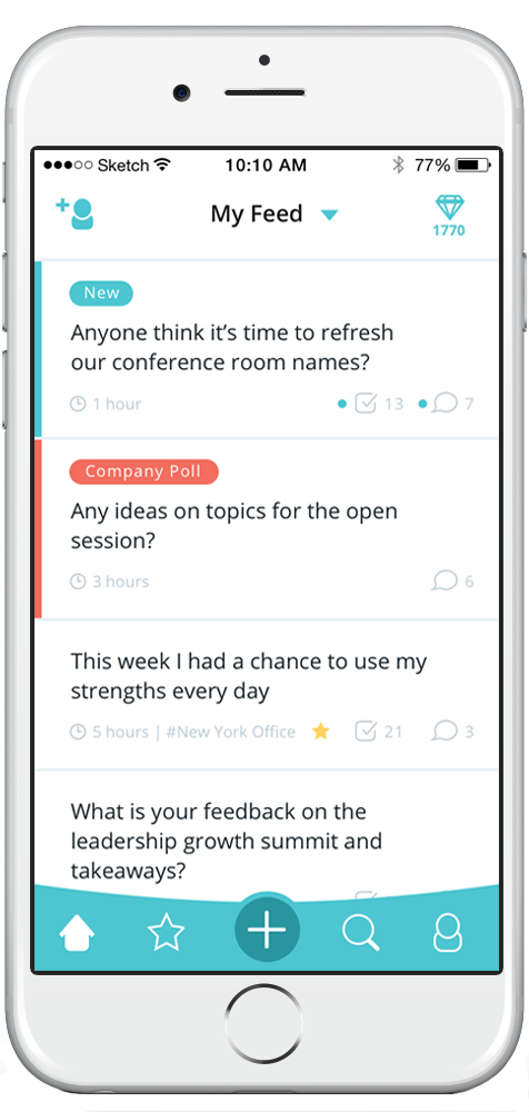 Crowd-sourced employee conversations & feedback (anonymous & non anonymous) - Available on Android and iOS