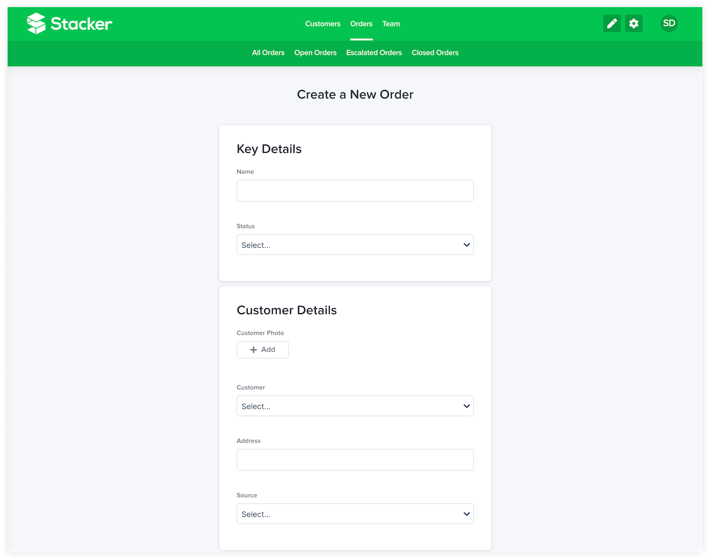 Stacker custom forms