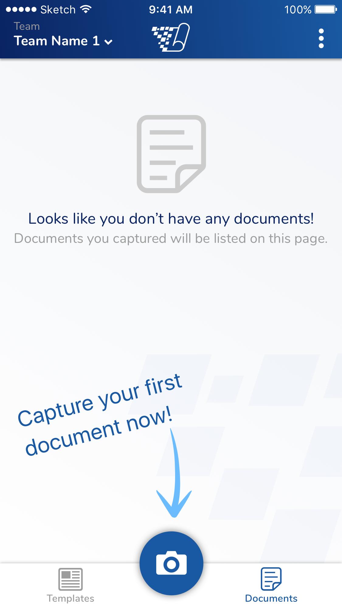 Capture 1st document