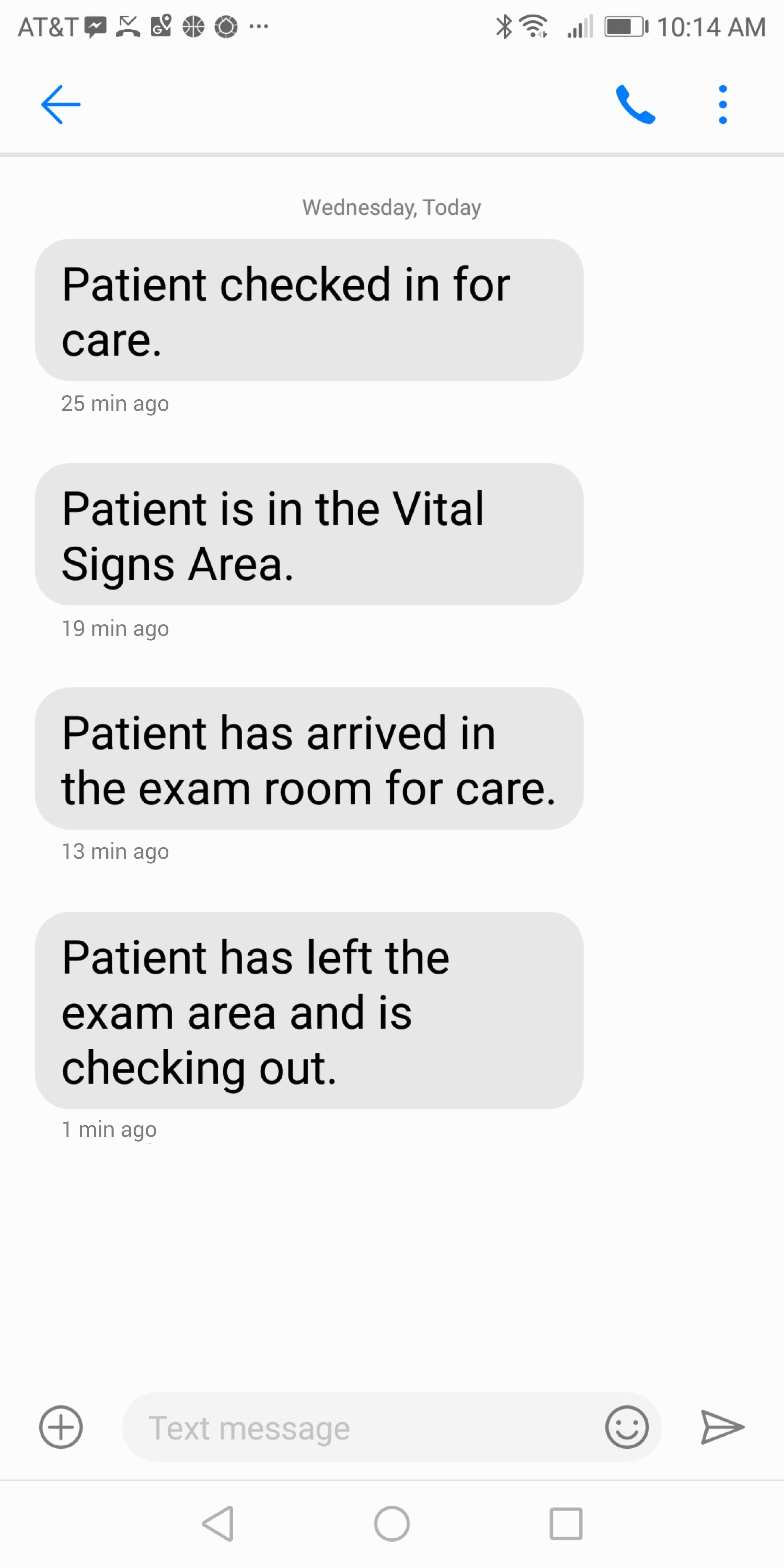 WorkflowRT SMS updates