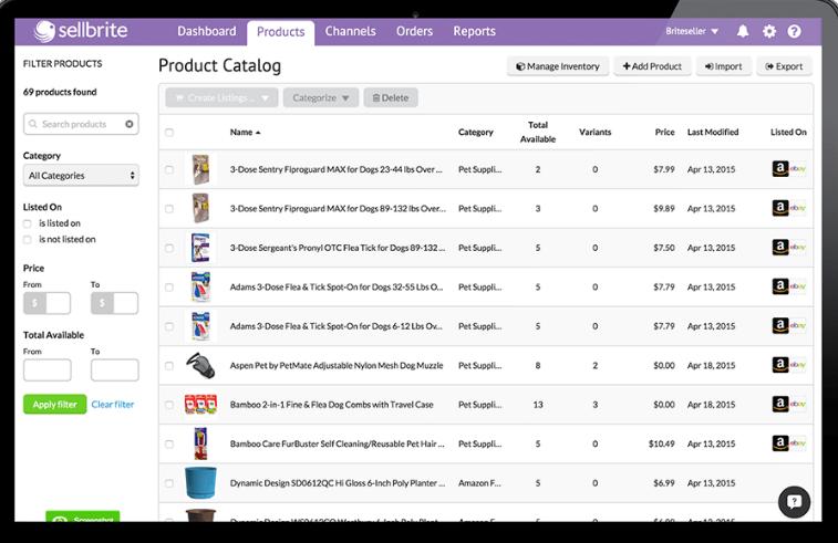 Sellbrite Software - Sellbrite multichannel selling